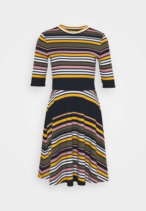 STRIPE DRESS - Jumper dress - navy