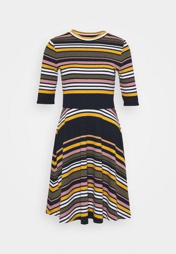 STRIPE DRESS - Jumper dress - navy