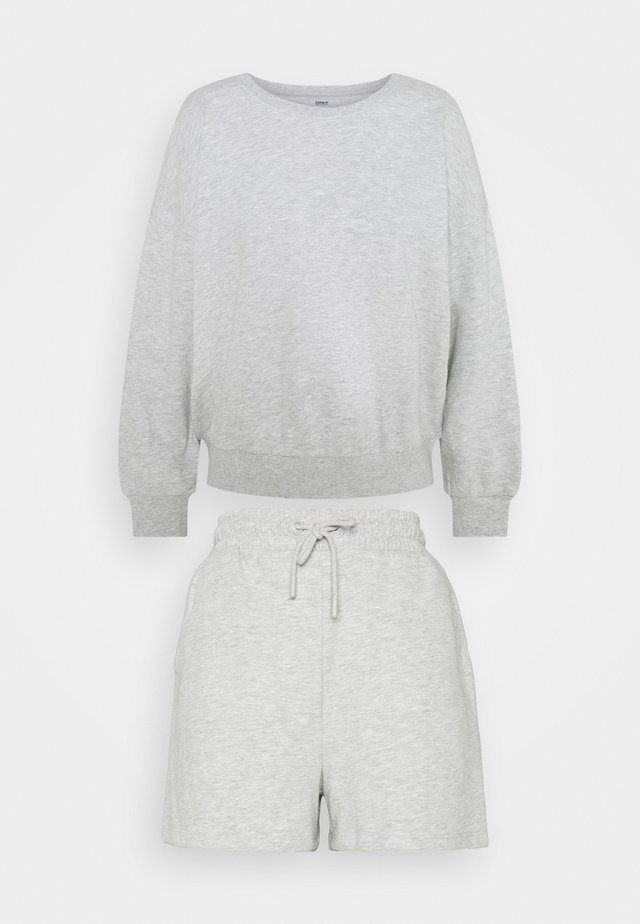 ONLKAPPI PETIT SET - Sweatshirt - light grey melange