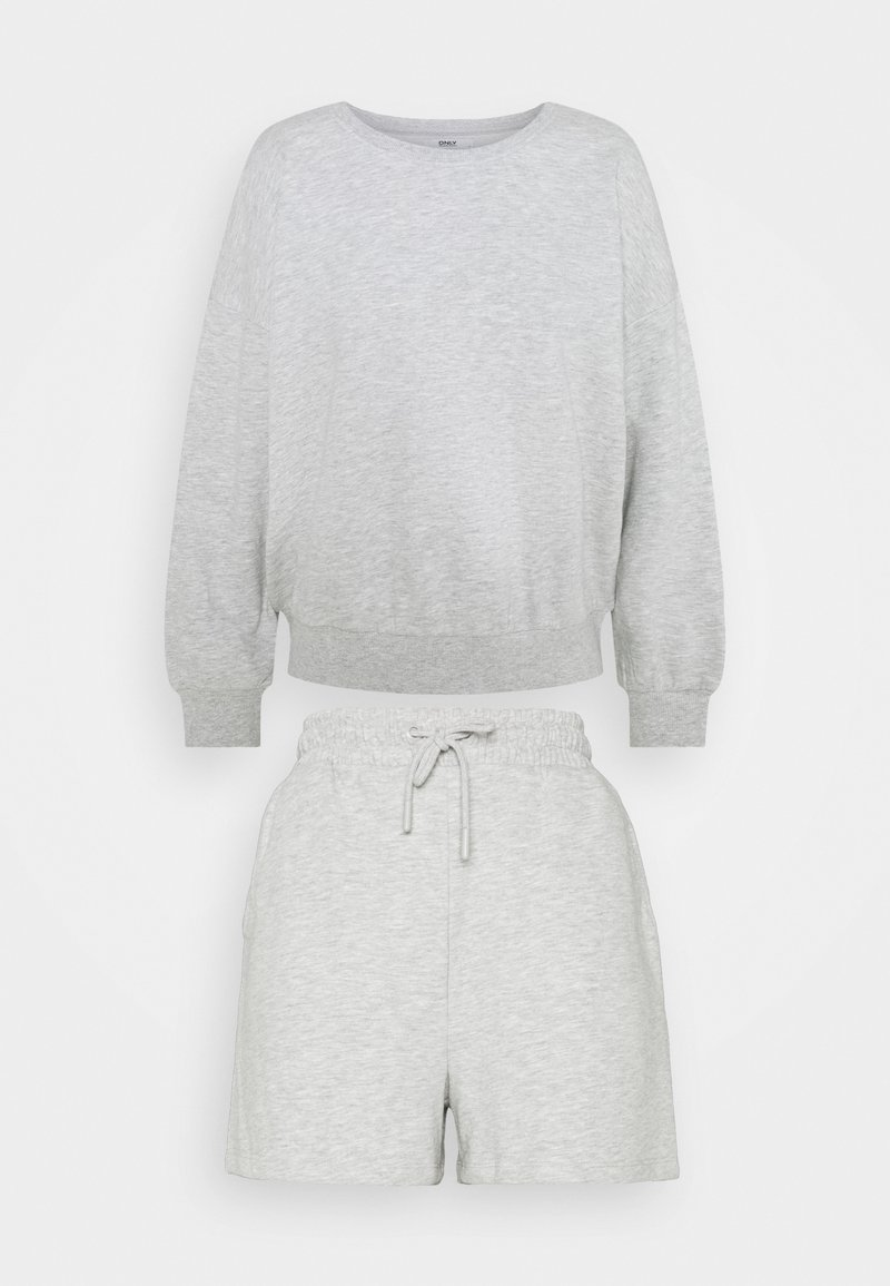 ONLY Petite - ONLKAPPI PETIT SET - Sweatshirt - light grey melange
