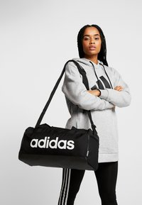 adidas Performance - ESSENTIALS LINEAR SPORT DUFFEL BAG UNISEX - Torba sportowa - black/white - 5