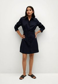 Mango - Shirt dress - azul marino - 1
