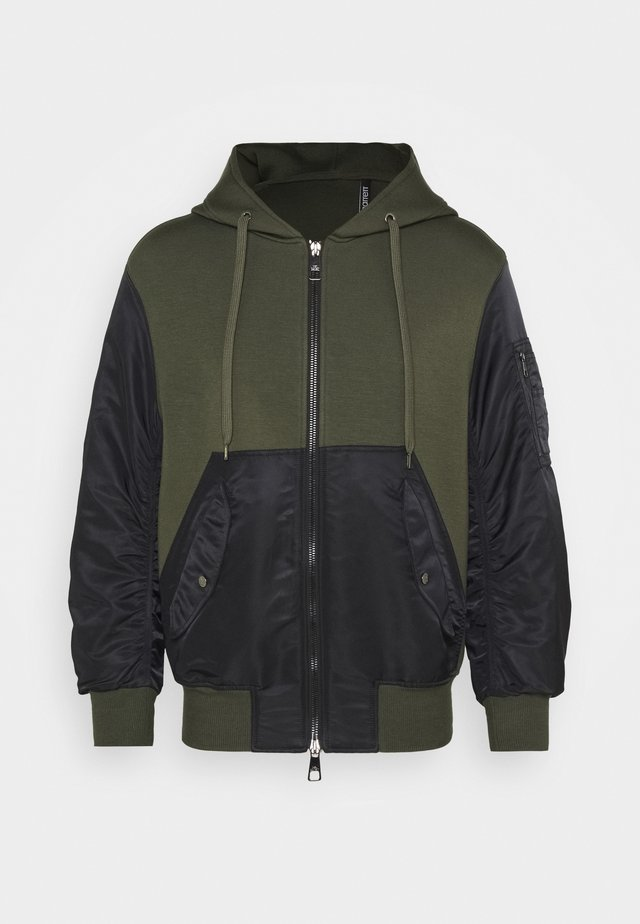 Bomber Jacket - olive/black