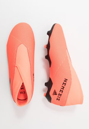NEMEZIZ 19.3 FG - Moulded stud football boots - signal coral/core black/solid red
