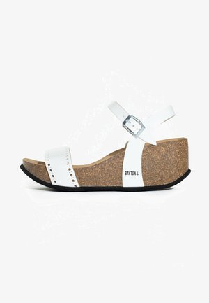 TOLEDO - Wedge sandals - white