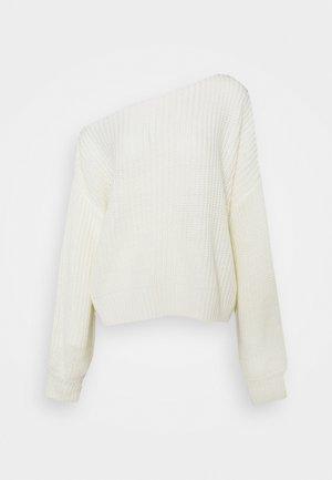 FREJA - Stickad tröja - white
