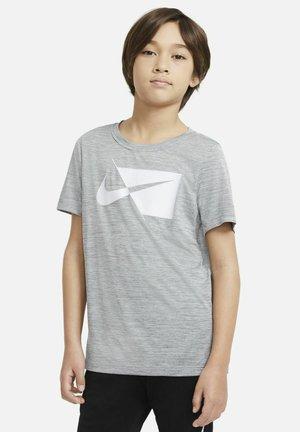 Print T-shirt - smoke grey/white