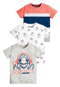 Next - 3 PACK SHARK T-SHIRTS - Print T-shirt - grey - 0