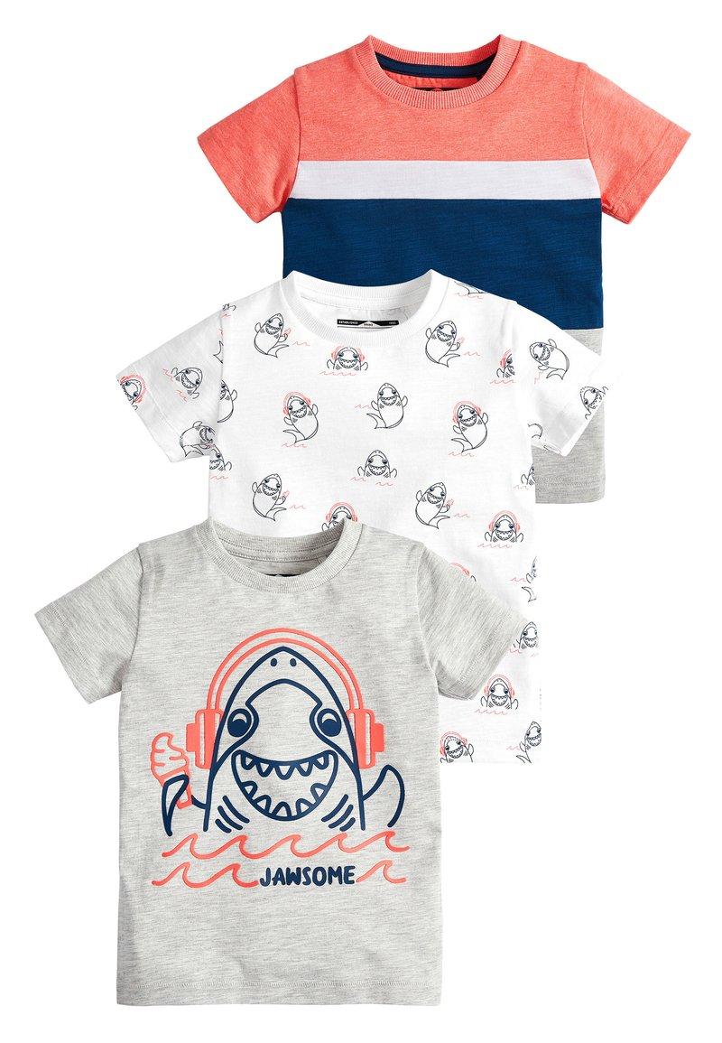 Next - 3 PACK SHARK T-SHIRTS - Print T-shirt - grey