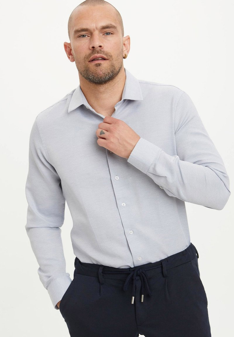 DeFacto - Formal shirt - blue