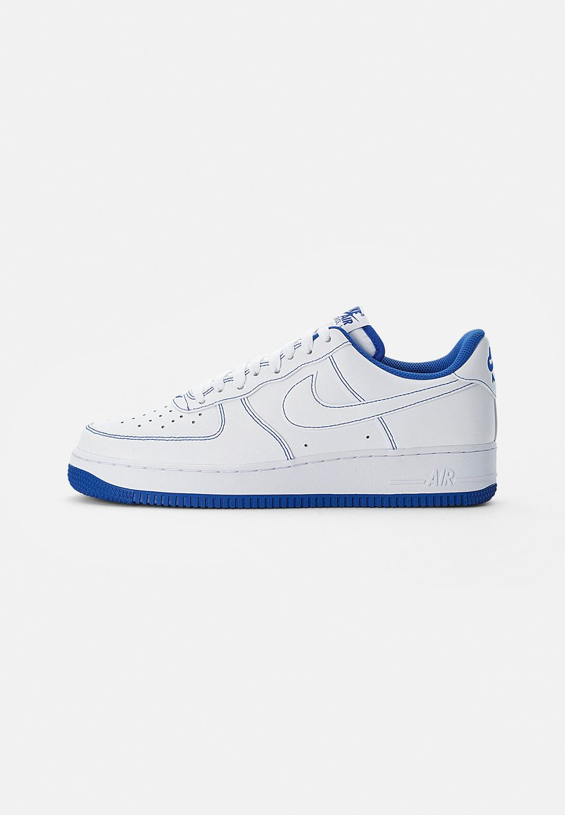 Nike Sportswear - AIR FORCE 1 STITCH - Sneakers laag - white/white-game royal