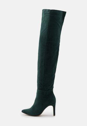MID HEEL BOOTS - High heeled boots - deep green