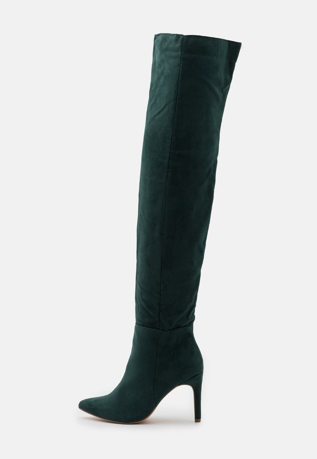 MID HEEL BOOTS - High heeled boots - deep green