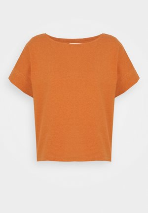 BOXY CROP TEE - Basic T-shirt - mulled cider