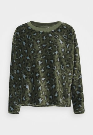 EAST WEST SHERPA CREW - Long sleeved top - olive fun