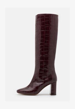 BOOT NO ZIP - Boots - burgundy