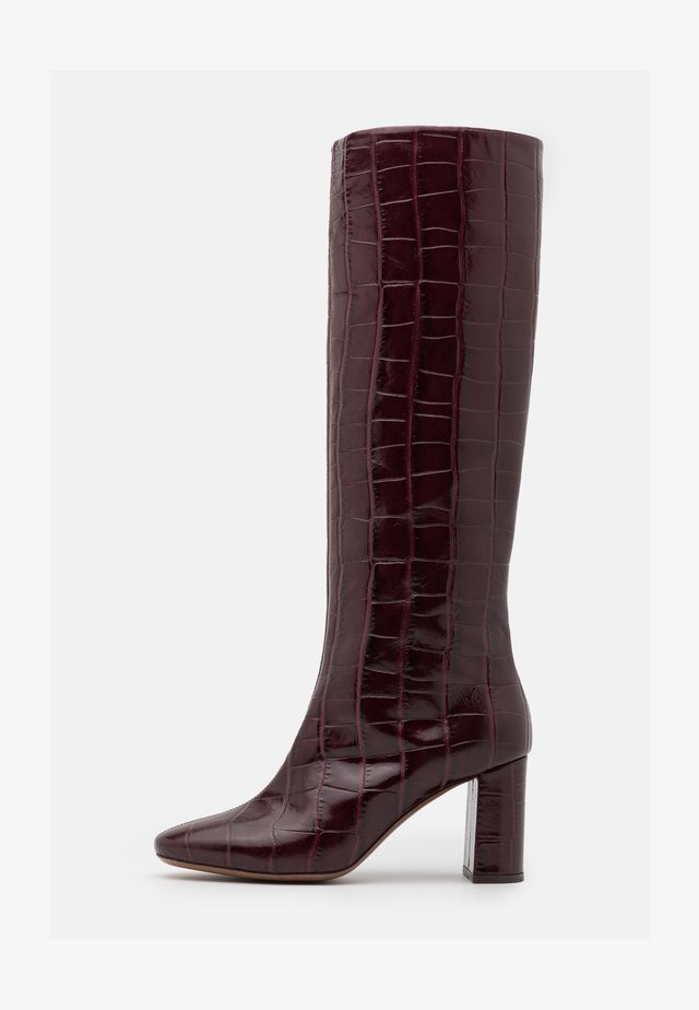 BOOT NO ZIP - Saappaat - burgundy