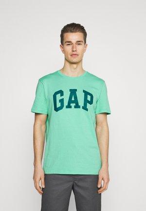BASIC LOGO - Print T-shirt - cool jade