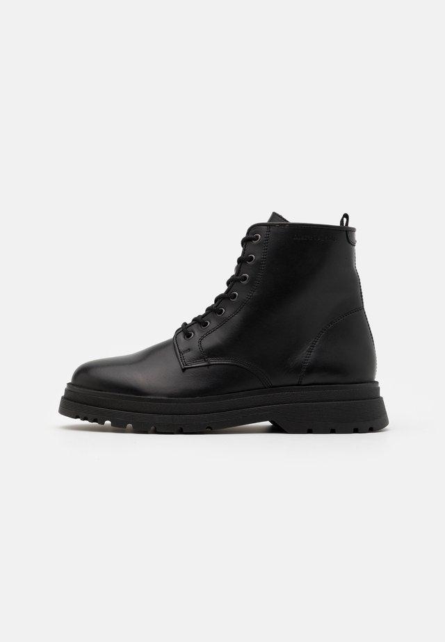 LACE UP BOOT - Šněrovací kotníkové boty - black