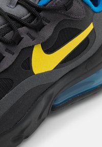 Nike Sportswear - AIR MAX 270 REACT UNISEX - Trainers - black/tour yellow/dark grey/blue spark - 5