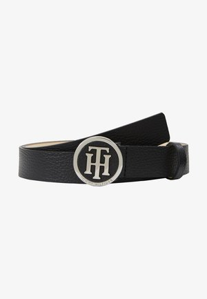 ROUND BUCKLE BELT - Cintura - black