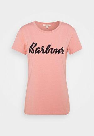 BARBOUR REBECCA TEE - Triko spotiskem - peach rose