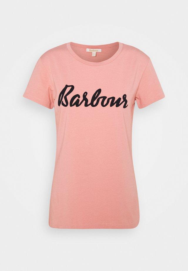 BARBOUR REBECCA TEE - T-shirt print - peach rose