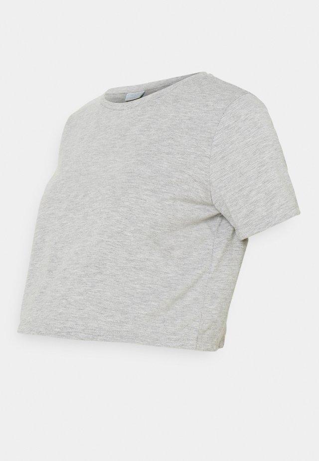 PCMRINA CROP  - Jednoduché triko - light grey melange