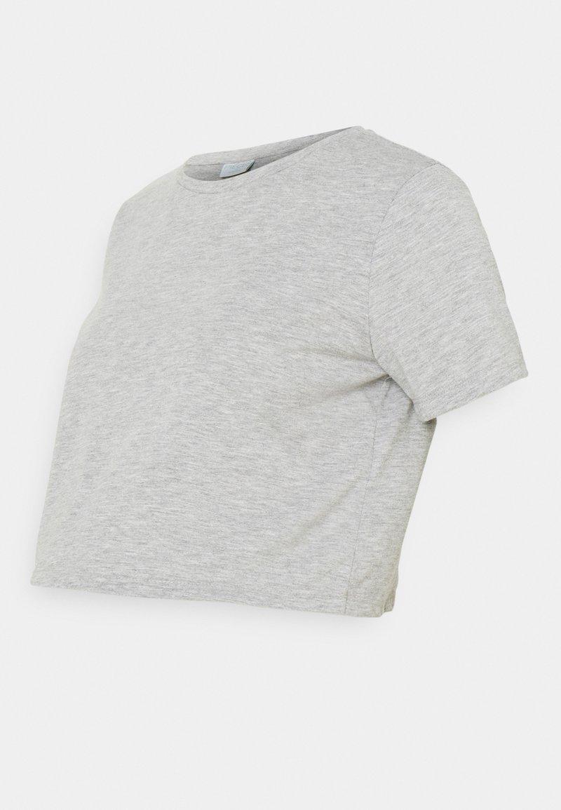Pieces Maternity - PCMRINA CROP  - Camiseta básica - light grey melange