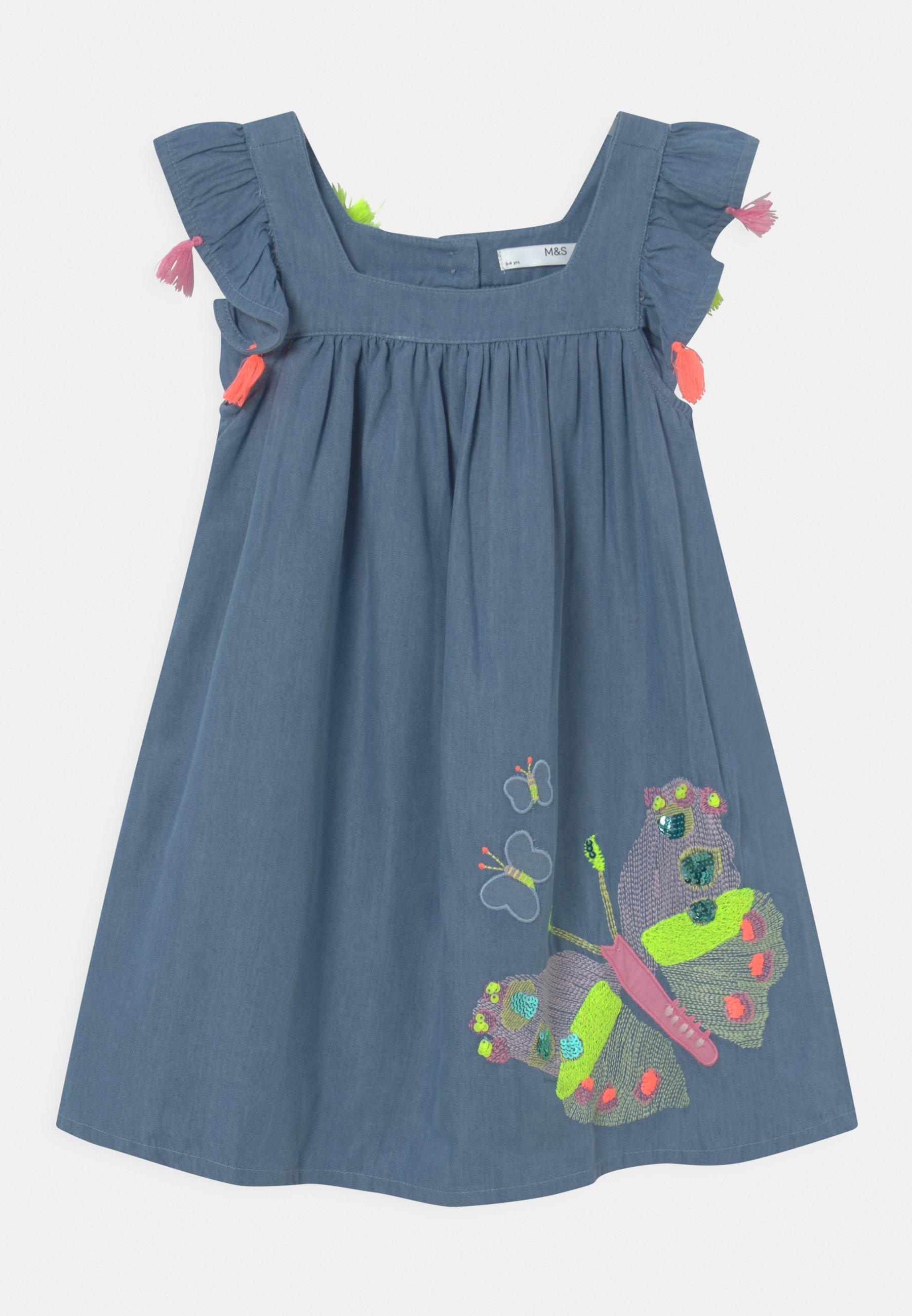 Børn BUTTERFLY DRESS - Jeanskjole / cowboykjoler