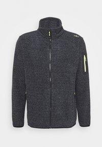 CMP - MAN JACKET - Fleece jacket - antracite/grey/yellow fluo - 4