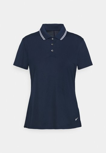 DRY VICTORY - Sports shirt - college navy/white/white