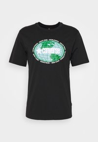 Converse - AROUND THE WORLD TEE - Print T-shirt - black - 3