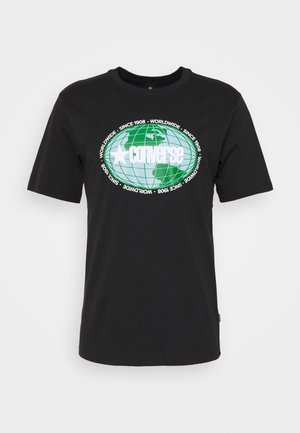 AROUND THE WORLD TEE - T-shirts med print - black