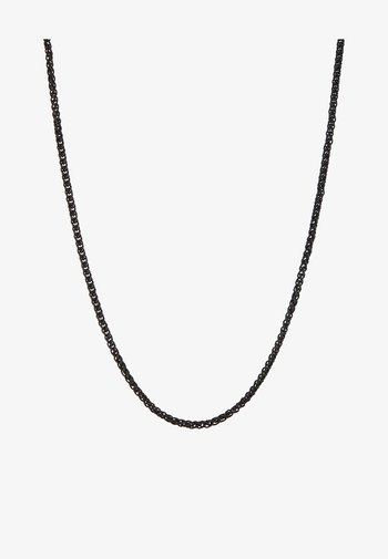 WHEAT LINK NECKLACE - Ketting - black