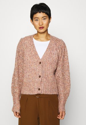 KAYE CARDIGAN - Strickjacke - canyon clay melange