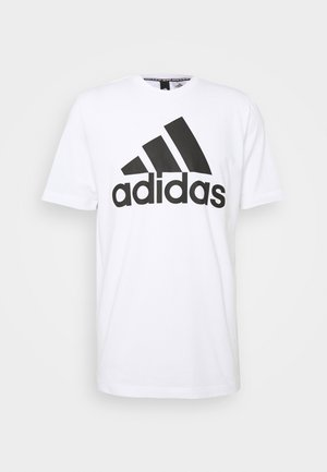 ESSENTIALS SPORTS SHORT SLEEVE TEE - T-shirt print - white