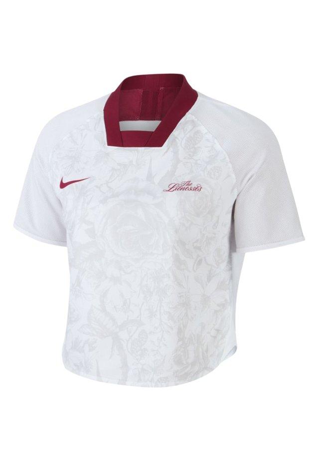 NIKE SPORTSWEAR DRI-FIT UNITÉ TOTALE KURZARM-KURZOBERTEIL FÜR DA - T-shirt imprimé - team red/white