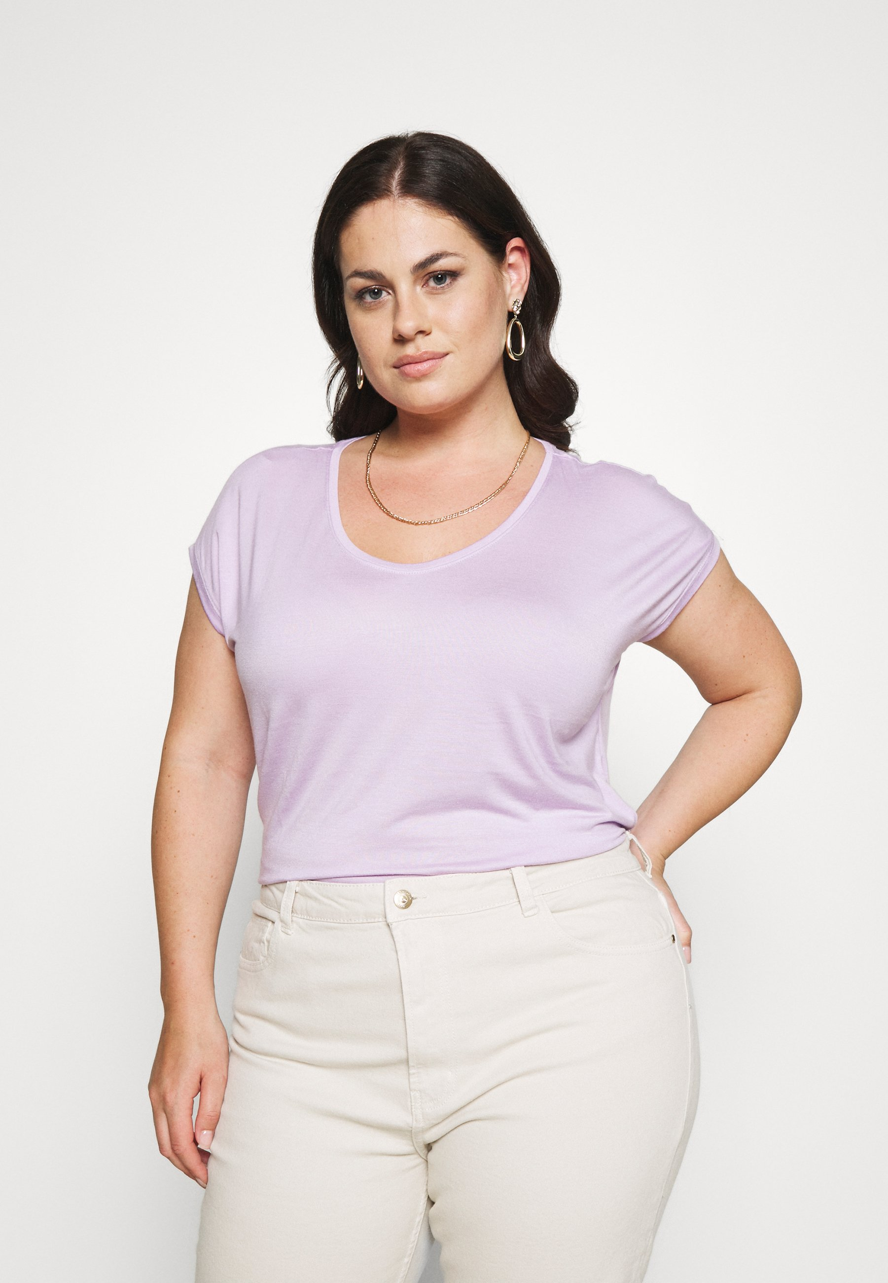 Femme PCBILLO TEE SOLID - T-shirt basique