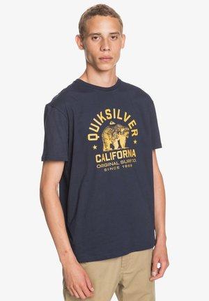 CA TRIED N TUR BEAR  - Print T-shirt - navy blazer