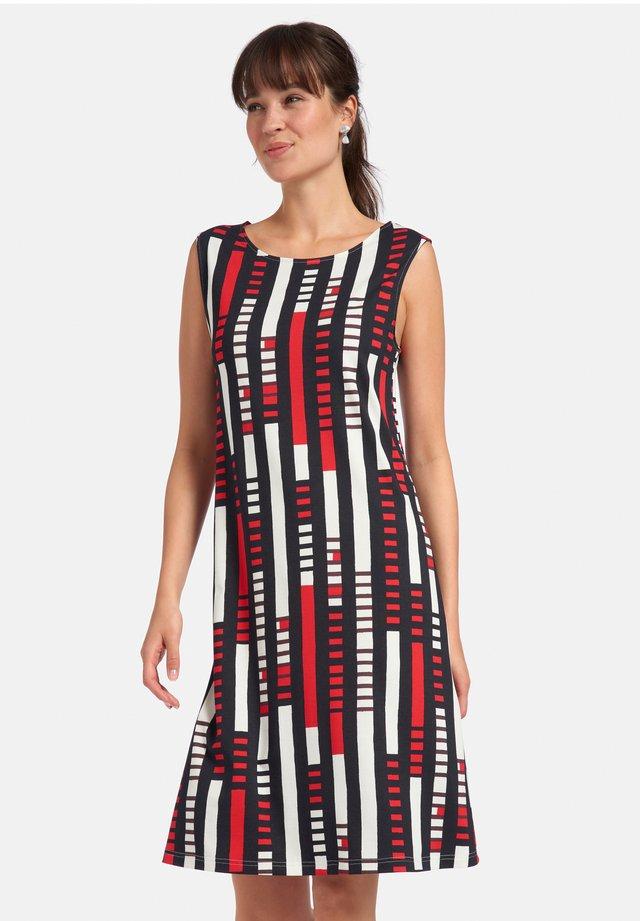 Korte jurk - schwarz/rot