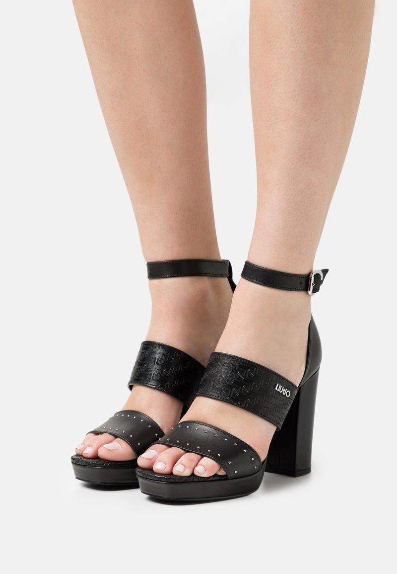 Liu Jo Jeans - HEBE  - Platform sandals - black