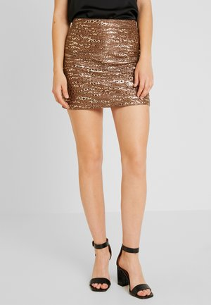LADIES SKIRT - Spódnica mini - bronze