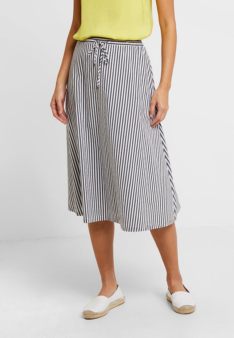 Betty & Co - A-line skirt - white/blue