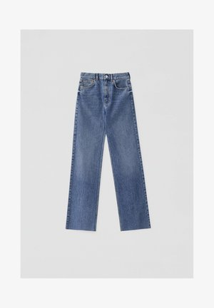 HIGH WAIST - Straight leg jeans - blue
