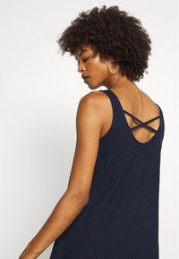 TOM TAILOR DENIM - DRESS WITH BACK DETAIL - Jersey dress - real navy blue - 4