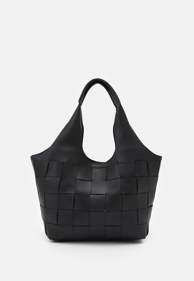 WILLOW WEAVE - Handbag - black