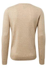 TOM TAILOR - MIT HENLEY KRAGEN - Sweatshirt - beige - 1