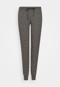 Lindex - NIGHT TROUSERS TEA - Pyjama bottoms - dark grey melange - 0