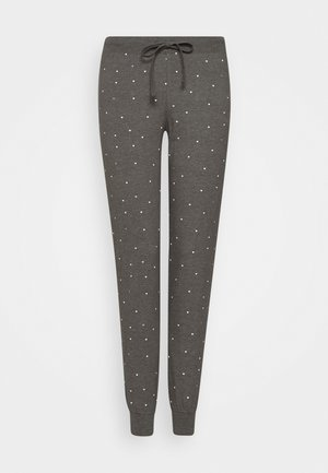 NIGHT TROUSERS TEA - Spodnie od piżamy - dark grey melange